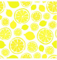 Lemons background painted pattern vector