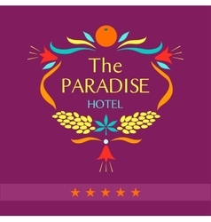 logo for the hotel The paradise vector image