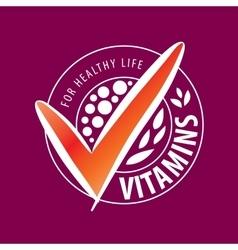 Logo vitamins vector