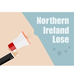 Northern Ireland lose Flat design business vector image