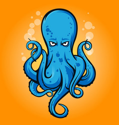 octopus mascot icon logo vector image