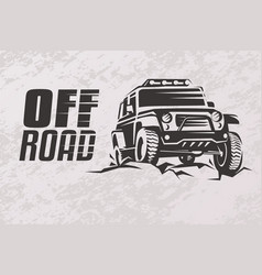 off road car stylized symbol offroader logo vector image