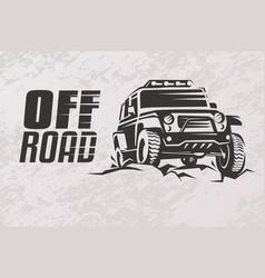 Off road car stylized symbol offroader logo vector