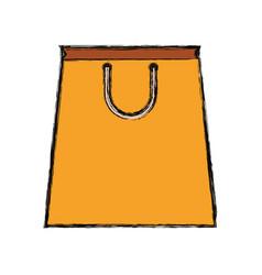 paper bag yellow vector image