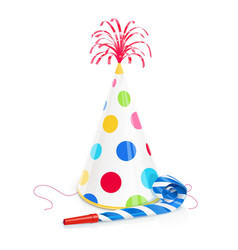party cap and whistle vector image
