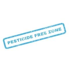 Pesticide Free Zone Rubber Stamp vector