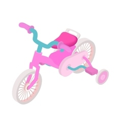 Pink trike icon cartoon style vector