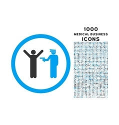 Police Arrest Rounded Icon with 1000 Bonus Icons vector image