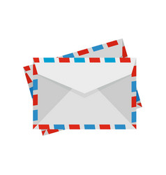 Post envelope icon flat style vector