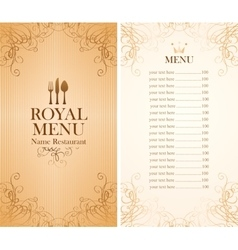 royal menu for a cafe vector image