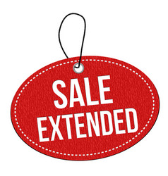 Sale extended label or price tag vector