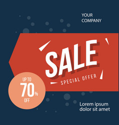 Sale special offer up to 70 off template design vector