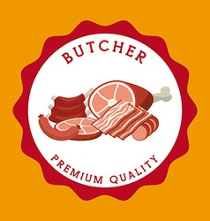 seal butcher vector image