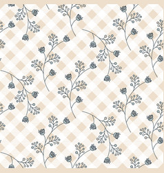 seamless floral pattern with curve small flowers vector image