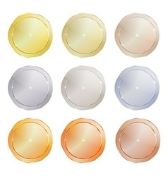 set of polished metal circular shape made of vector image