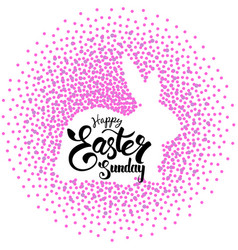 silhouette of easter rabbit vector image