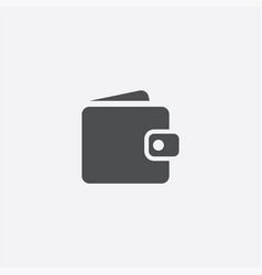 Simple wallet icon vector