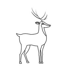 single reindeer icon vector image