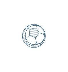 soccer ball football isometric icon 3d line art vector image