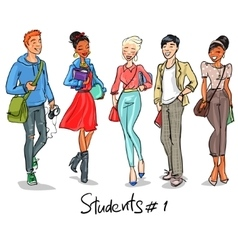 Students - part 1 vector image