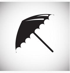 Studio photo umbrella icon on white background for vector