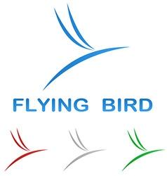 Stylized flying bird logo design vector