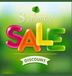 summer sale poster with color text vector image