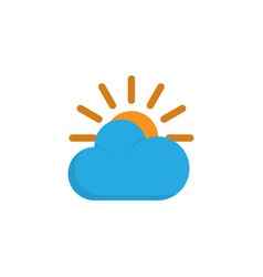 Sun flat icon symbol premium quality isolated vector