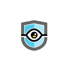 surveillance shield logo vector image