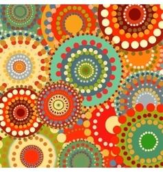 Textile color retro background ornament circles vector