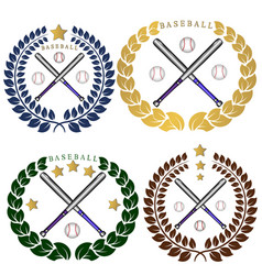 the theme baseball vector image