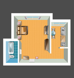 top view of apartment vector image