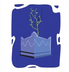Tulsi plant vector