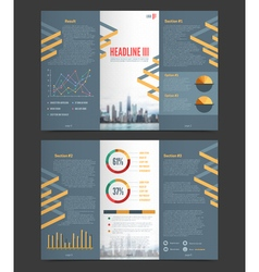 Two Fold Flyer Template vector image