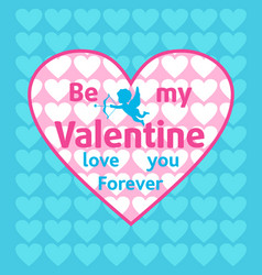 Valentines day background card blue vector