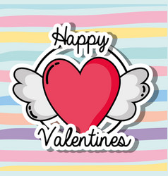 velentines day patches design symbol of love vector image