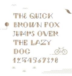 Vintage hipster geometric font vector image