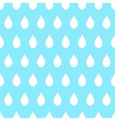 White Rain Blue Background vector image