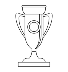 Winning cup icon outline style vector image