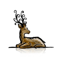 Deer sketch for your design vector image