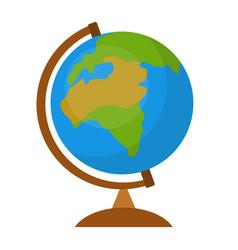 Globe icon flat cartoon style isolated on white vector