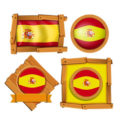icon design for flag of spain vector image vector image