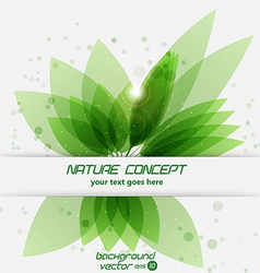 leaf concept 2 vector image vector image