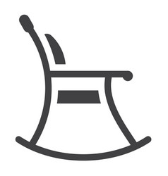 rocking chair solid icon furniture and interior vector image