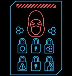 Hacker vector image