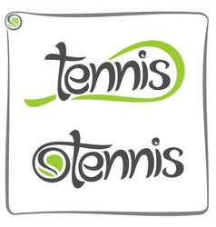 racket of lawn tennis vector image vector image