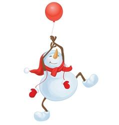 snowman balloon vector image vector image