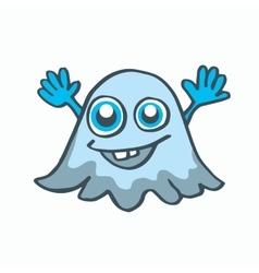 cartoon ghost Halloween vector image