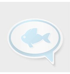 Christian religion symbol fish Concept speech vector image