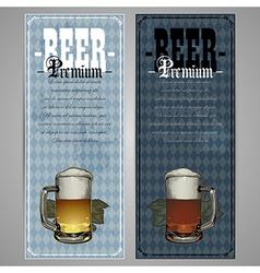 Premium beer menu design vector